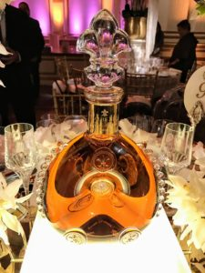 The bottle of cognac was beautiful a touch.