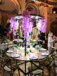 The famous French crystal company, Baccarat, celebrated orchids with this gorgeous floral shower.