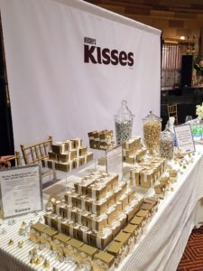 "Hershey's had an amazing setup of kisses - their newest weddings kiss says ""I do""."