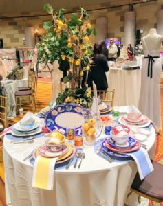 This table setting was provided by La Terrine, Distinctive Tableware and Fine Linens. https://www.laterrinedirect.com