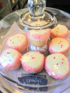 These are lemon curd cupcakes.