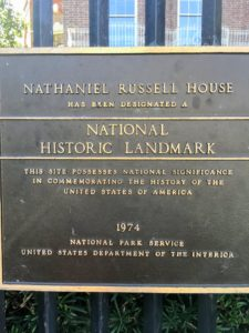Then, we went to the historic Nathaniel Russell House Museum.