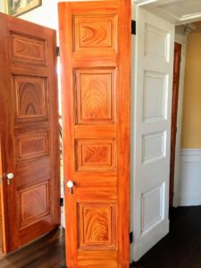 This eight-panel door is faux-grained - so beautifully done.