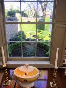 Here is a view looking out to a beautiful parterre.