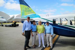Before takeoff, I posed for this quick photo with members of the Everglades Foundation - Board member, Gary Lickle, director of development, Deborah Johnson, and Steve Davis, Ph.D., head of Wetlands Ecology. http://www.evergladesfoundation.org