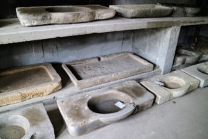 Look at these 17th to 19th century limestone sinks - so pretty.