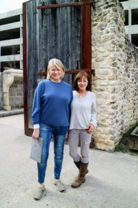 Here I am with the proprietor of Chateau Domingue, Ruth Gay. We're standing in front of the shop's giant reclaimed entrance gates. http://www.chateaudomingue.com