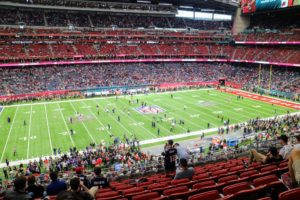 The stadium itself has a 97,000 square foot playing surface. It is part of a larger group of facilities known as NRG Park, which includes the iconic Astrodome.