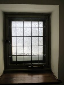 "This window is at the end of the ""dorm"", which was originally used for the housekeeping staff. This area is just above the Skylands kitchen."