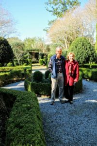 I love visiting gardens - here are Betsy and Gene Johnson, who welcomed us to their property and gave us a tour.