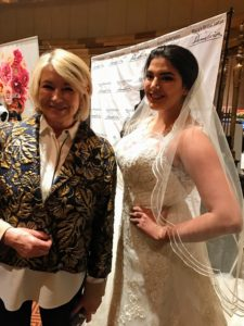 Here I am with a model from Demetrios by Macy's. http://www.demetriosbride.com/brides-by-demetrios/