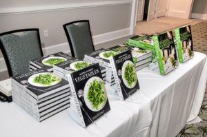 "There was also a table set up with two of my books available for sale - ""Martha Stewart's Vegetables: Inspired Recipes and Tips for Choosing, Cooking, and Enjoying the Freshest Seasonal Flavors"" and ""Martha's Entertaining: A Year of Celebrations"". (Photo by Jeff Dodge)"