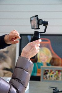 The Osmo Mobile is designed to  ergonomically fit the palm of the hand. And, its conveniently placed buttons and controls keep important functions within reach.