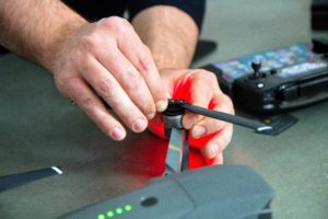 The Mavic Pro has quick-release folding propellers that just snap into place.