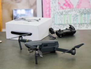 Here's my new drone - the DJI Mavic Pro. It's all ready for its very first flight! I've flown many different model drones, but none as advanced as this one.