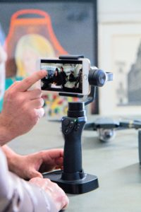 The Osmo Mobile uses a smartphone camera to view its footage. The camera provides steady, clear pictures.