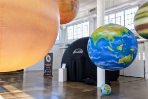 We found a company in Florida called Starlab that sells inflatable, mobile planetariums to schools and organizations. It was an educational element that all the children loved. (Photo by Helmut Albrecht) http://starlab.com