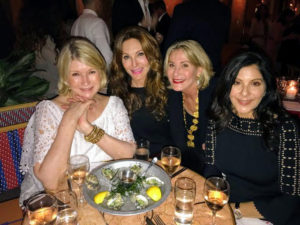 Here I am with old friends from Miami - Tara Solomon, my publicist Susan Magrino, and Yolanda Berkowitz.