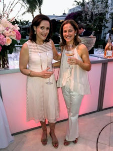 My publicist, and Susan's sister, Allyn Magrino, poses with Sacha's wife, Mathilde Lichine.