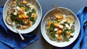 For cold, winter days like this one here in the Northeast - a mouthwatering Chicken Soup with Sweet Potatoes, Collards, and Quinoa - it's so delicious.
