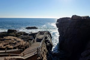 Here's Thunder Hole, which is best viewed two-hours before high tide.