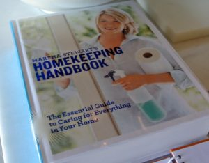 "There are lots of great tips in my ""Homekeeping Handbook: The Essential Guide to Caring for Everything in Your Home"". Everyone should have a copy. http://www.amazon.com/Martha-Stewarts-Homekeeping-Handbook-Everything/dp/0517577003"