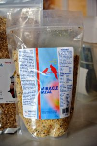 Miracle Meal is a complete, all-natural, nutritious soft food. It contains a balance of protein, carbohydrates and essential fatty acids necessary for proper growth and immune system functioning.