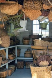 Early basketmakers selected materials from nature, such as stems, animal hair, hide, grasses, thread, wood, and pinstraw.