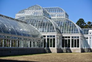 In addition to the Orchid Show, this enormous glass structure is home to a tropical rain forest, a cactus-filled desert, and an ever-changing landscape of flowers and foliage.