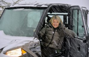 Our New York offices closed because of the blizzard; however, I always keep in close touch with everyone at the company. The Polaris Ranger Crew 1000 is doing a good job getting me around all the spaces that needed clearing. It's the perfect vehicle to use to traverse the property and photograph the snowy day.