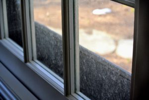 My windows are dusted regularly, but a film caused by air pollutants that hit the window can accumulate.