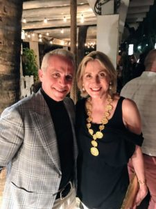 Here is a nice photo of my good friend and chef, Geoffrey Zakarian, and Susan.