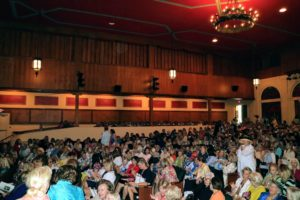 "It was ""standing room only"" in The Walter S. Gubelmann Auditorium, a 700-seat theater."