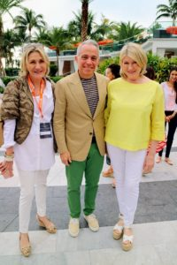 Here's a nice photo - my publicist, Susan Magrino, my friend, Chef Geoffrey Zakarian, and myself.