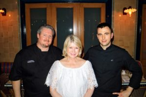 Here I am with Le Zoo's executive chef, Craig Wallen, and Hugo Carmona, deputy chef to internationally renowned truffle expert, Benjamin Bruno. Dinner included whole Brumale truffle, baked potato with truffles, and a delicious roasted lobster with light Brumale truffle bisque and fresh vegetables.