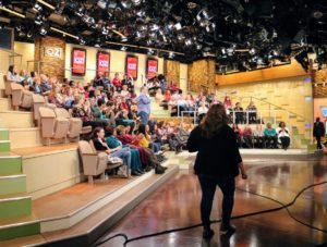 The Dr. Oz Show has a LIVE television audience. It was so nice to see such  an enthusiastic crowd.