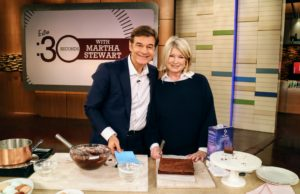 Look at the brownies we made - so delicious, and made with dark chocolate, which is one of the best sources of antioxidants on the planet. In fact, studies show dark chocolate can improve health and lower the risk of heart disease. It is always a pleasure doing segments with Dr. Oz - we had lots of fun. The pots, bowls and cake stands used in our segment are all from my collection at Macy's. goo.gl/EDKIR0