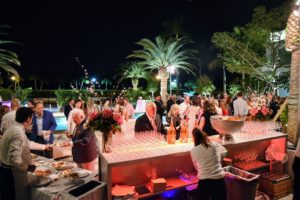 """More than 100-guests attended the outdoor """"pool"""" party. (Photo by Annie Watt)"""