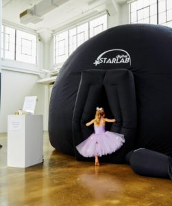 Planetarium shows are such a magical way to bring the mysteries of the universe to life - here's Jude going in to see the show. She looks so pretty in her ballerina tutu. (Photo by Linda Pugliese, courtesy of Martha Stewart Living)