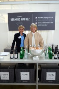 Many of our vintners attended the event. Here I am with Cecile Magrez for Bernard Magrez. These wines include 2015 Jamais Renoncer Red Blend - Cotes du Roullisson, France and 2016 Villa Ruby Rosé - Méditerranée IGP, France. (Photo by Tony Gale)