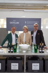 With me are Piergiorgio Castellani and Luca Forte for Castellani. Their wines include 2015 Cala de Poeti Vermentino I.G.T. - Tuscany, Italy and 2015 Cala de Poeti Sangiovese - Puglia, Italy. (Photo by Tony Gale)
