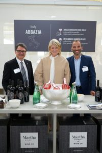 And here I am with Walter Santero and Gaetano Peragine for Abbazia. They served Abbazia Moscato Rosé Dolce - Italy and 2014 Abbazia Barbera d'Asti - Asti, Piemonte, Italy. (Photo by Tony Gale)