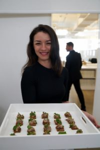 Some of the hors d'oeuvres included smoked chicken rillettes on toast. (Photo by Tony Gale)