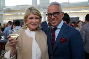 Here I am with my friend, Chef Geoffrey Zakarian. (Photo by Tony Gale)