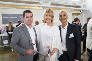 Louis Amoroso, founder of DRINKS.com, our new CEO of Sequential Brands Group, Karen Murray, and Jeff Cohen (Photo by Tony Gale)