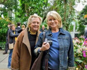 Here I am with my dear friend, Memrie Lewis, just inside the Conservatory.