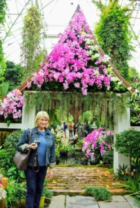 Here I am in front of an orchid-decorated sala, a traditional Thai pavilion used as a meeting place for shade and relaxation.