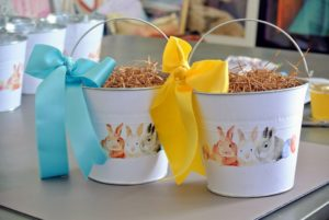 We used shades of blue and yellow - I know all the children will love their homemade Easter pails.