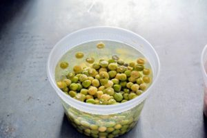 Only soak seeds for about eight to 12-hours and no more than 24-hours. Over-soaking them could cause them to decompose. When removing the peas, discard any that have floated to the top of the water - these are not viable and shouldn't be planted.