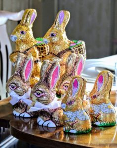 I bought several chocolate bunnies from See's Candies - these went into my grandchildren's Easter baskets. http://www.sees.com